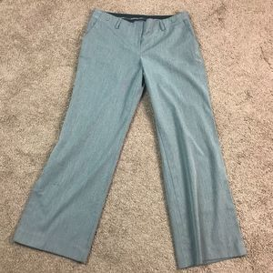 Express Women's Gray Pinstriped Bootcut Pants